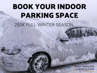 Winter season indoor parking space