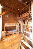 coin montagne 2 lits superposés + mezzanine 2 lits simples