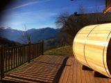 terrasse avec sauna